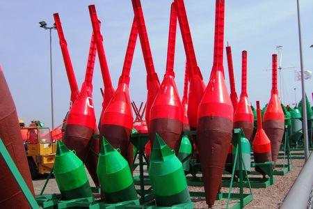 boyas: El rojo y el verde boyas