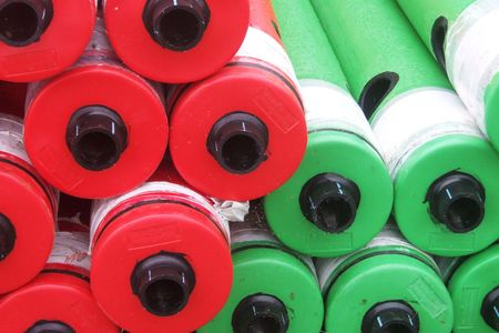 buoys: red and green buoys Stock Photo