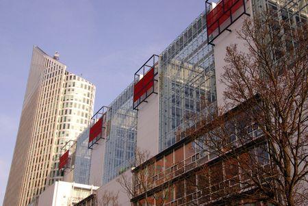 Hoftower en een ministerie in Den Haag, Nederland