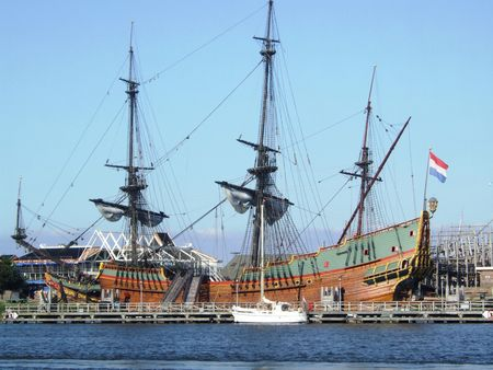 seventeenth: the replica of the seventeenth century ship the  Stock Photo