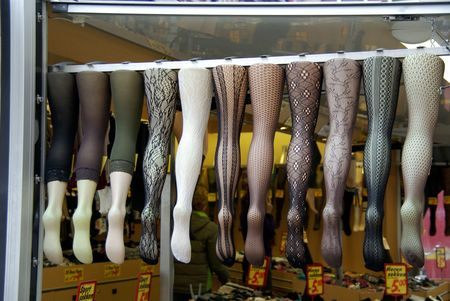 stockings at a market