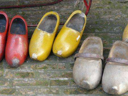 antique wooden shoes photo