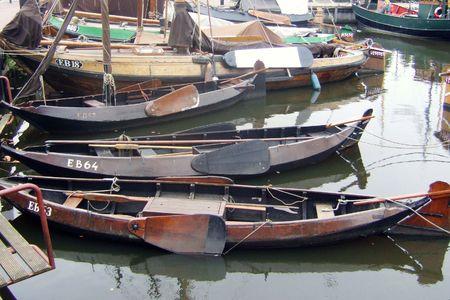 rowboats: antique rowboats Stock Photo