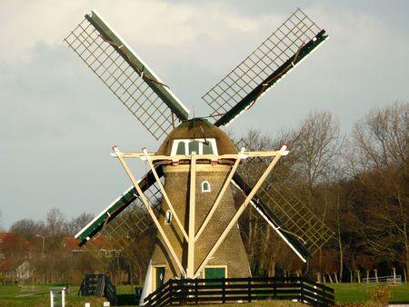 polder: a polder mill Stock Photo