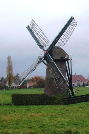 polder: a polder windmill