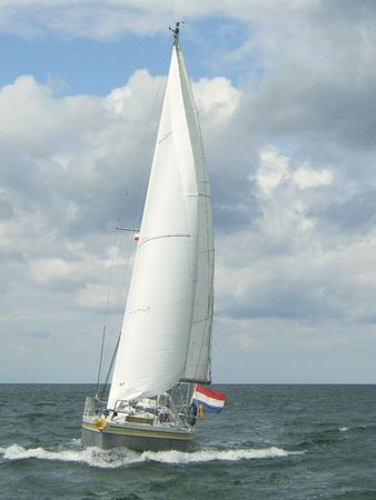 sailing yacht at sea Stock Photo - 2736116