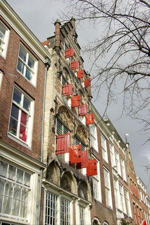 gable house: seventeenth century house with a step gable