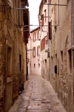 A narrow street in Koper, Slovenia