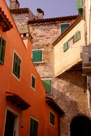 Houses in Rovinj, Croatia