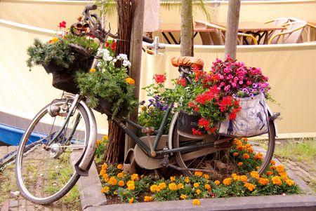 decorated bike: Un decorato bicicletta  Archivio Fotografico