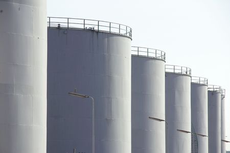 Oil storage tanks photo