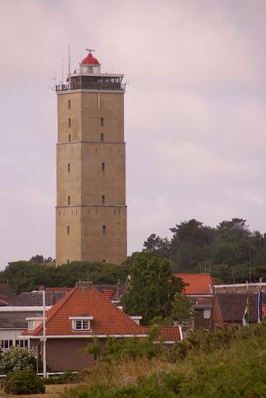The lighthouse of West-Terschelling, the Netherlands
