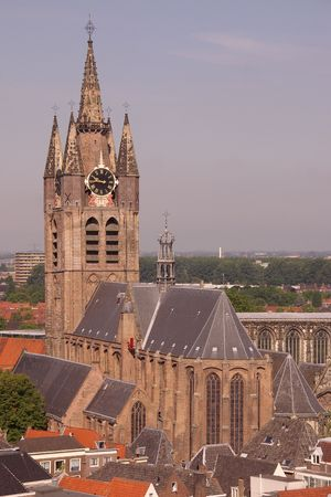 The old church in Delft, the Netherlands photo