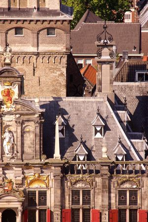 a detail of the old city hall of Delft, the Netherlands Stock Photo - 3389079