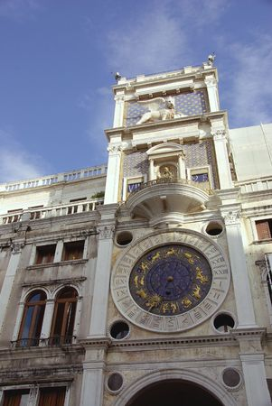 vecchie: St Marks clock tower in Venice, Italy