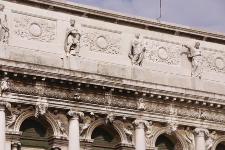 nuove: Detail of the procuratie nuove in Venice, Italy Stock Photo