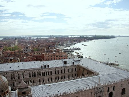 View at Venice with the Doges palace in Front, Italy photo