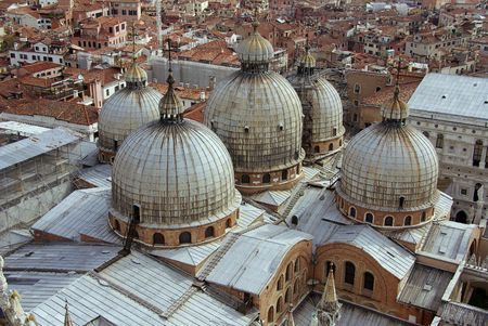 The roof of the St Marks basilica photo