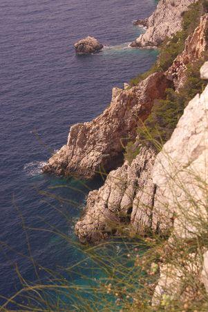 The cliffs of Dugi Otok (Long island) in Croatia Stock Photo - 3424299
