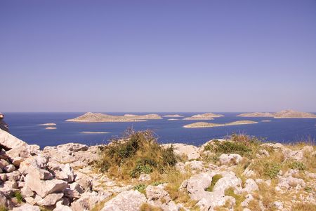 Islands in the national park Kornati in Croatia Stock Photo - 3424651