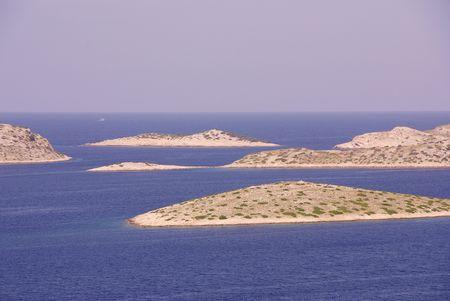 kornat: Islands in the national park Kornati in Croatia
