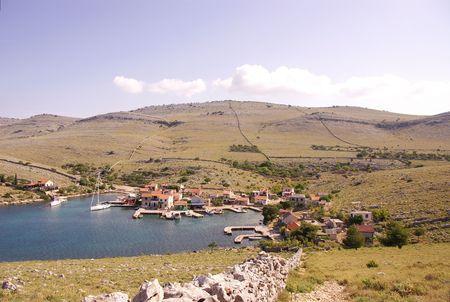 kornat: The village Vrulje in the national park Kornati in Croatia
