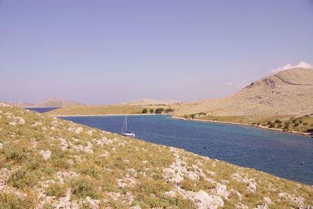 The bay of Vrulje in the national park Kornati in Croatia Stock Photo - 3424654
