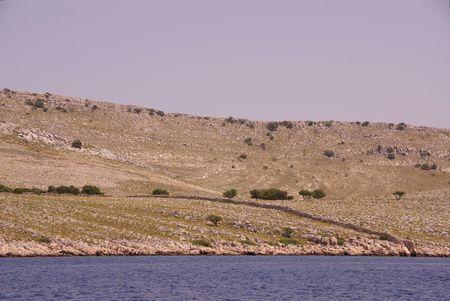 kornat: The island Kornat, one of the national park Kornati in Croatia Stock Photo