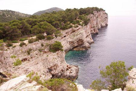 lopsided: The cliffs of dugi Otok (long island) in Croatia
