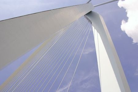 The Erasmusbridge in Rotterdam, the Netherlands