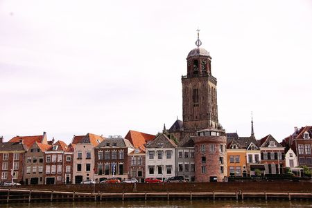 Deventer at the Ijssel river, the Netherlands