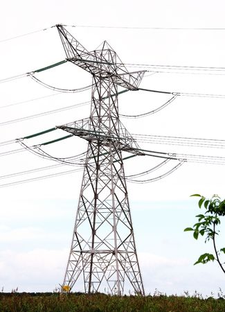 powerplants: A high tension mast Stock Photo