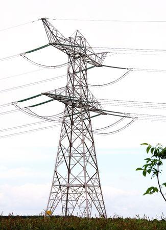 powerplants: A high tension mast Stock Photo
