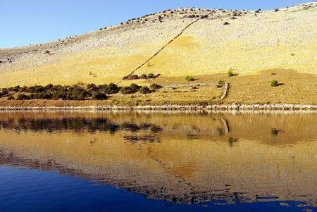 kornati national park: A hill with reflections in the Kornati national park, Croatia