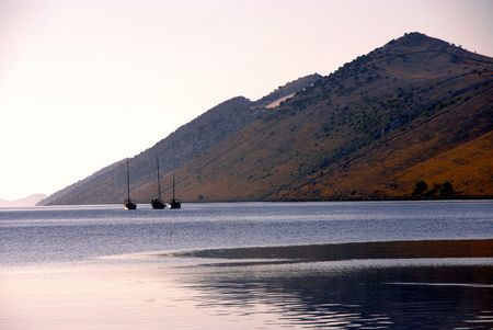 The island Kornat in Croatia in the late evening sun