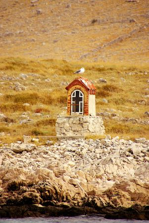 kornati national park: A chapel in the Kornati national park in Croatia Stock Photo