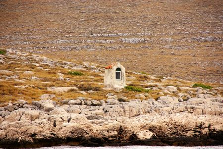 A chapel in the Kornati national park in Croatia Stock Photo - 3841480
