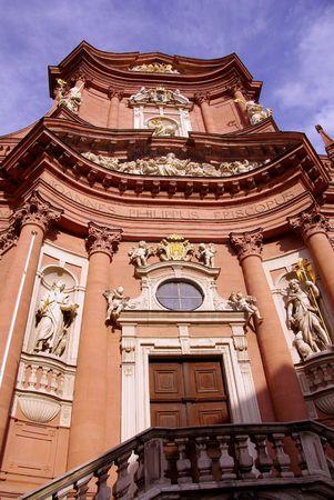 romantics: The Neumunster church in Wurzburg, Germany