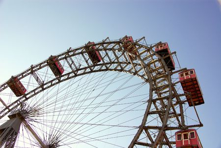The ferris wheel at the prater in Viennaold Stock Photo - 3895409