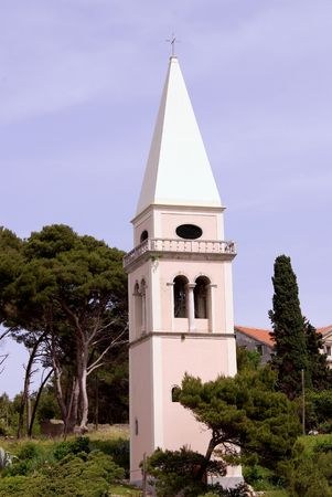 campanille: the campanille of the church of St. Anthony in Veli Losinj, Croatia