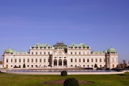 The Belvedere palace in Vienna, Austria Stock Photo