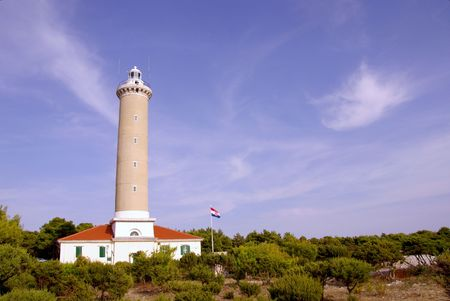 The lighthouse of Veli Rat at Dugi Otok in Croatia Stock Photo - 4000530