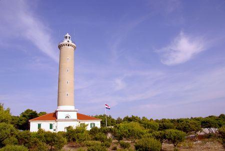 The lighthouse of Veli Rat at Dugi Otok in Croatia Stock Photo - 4000530