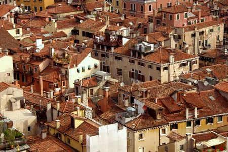 sight at the houses and balconies in Venice, Italy photo