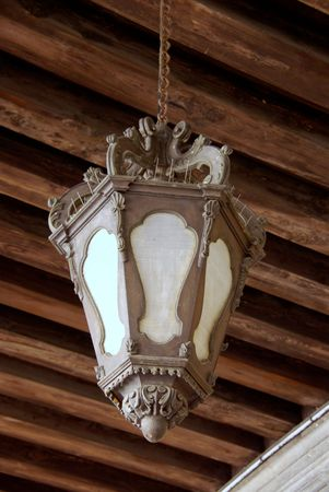 saint mark's: A lamp in the hall of the doge palace in Venice, Italy Stock Photo