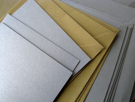 Golden and silver greeting cards