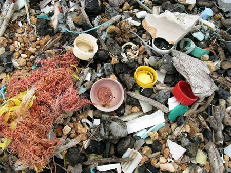 Litter at thebeach Stock Photo - 4041711