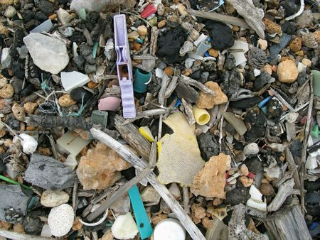 Litter at the beach Stock Photo - 4041707