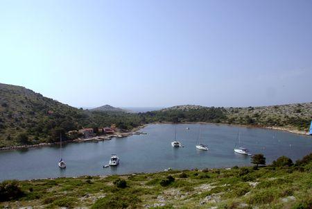 kornati national park: The bay of Lavsa in the Kornati national park in Croatia