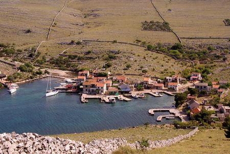 kornat: The village Vrulje at the island Kornat in Croatia